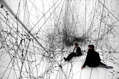 """Tomás Saraceno, """"Stillness in Motion"""" at the San Francisco Museum of Modern Art - The New York Times"""