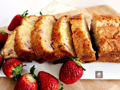 Strawberry Pound Cake-Strawberry Pound Cake. A delicious recipe bursting with fresh strawberries. Soft, moist and perfect with a morning coffee or to take to friends!