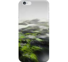 iPhone Case/Skin, moss, mist, fog, whisper, landscape, photo, photography, long exposure, photographer, natural , nature, sea, white, gray, dark, exposure, explore, sea, beach, waves, light, green, moss, ocean, clouds, sky, horizon, digital, interior design, home decor, duvet cover, bedroom, home style, xiari, wall art, wall decor, art print, Cyprus, island, Greek, surrealism