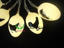 165 cm 10LED luces de hadas huevos de pascua de plumas de la boda cadena fiesta de la sala de estar de navidad decoración Festival de envío gratis(China (Mainland))