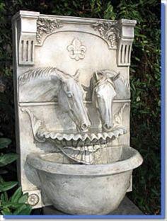 Equestrian Inspired Decor, beautiful fountain
