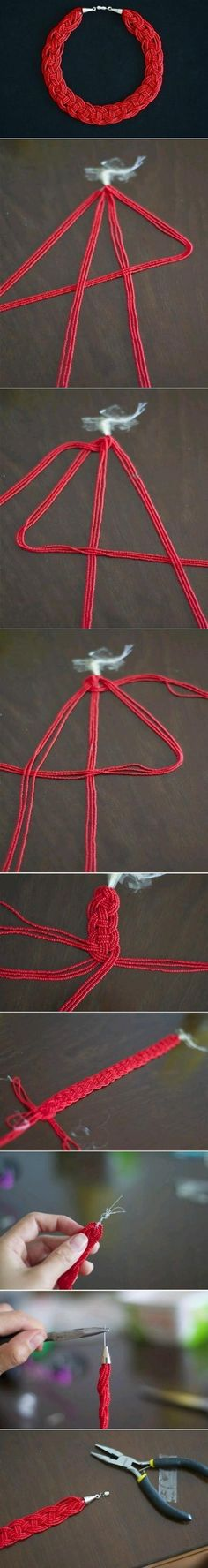 Macrame Bracelet ~ Looks interesting, Im gonna try this
