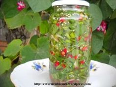 Canning Pickles, Diy And Crafts, Mason Jars, Glass Vase, Food And Drink, Vegan, Cooking, Recipes, Pictures