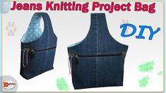 In this video i'm showing you how to make knitting project bag from old jeans and how to make a pattern step by step. If you do like the content. Recycle Jeans, Diy Jeans, Upcycle, Bag Pattern Free, Patchwork Bags, Fabric Scraps, Quilt Making, Knitting Projects, Hand Sewing
