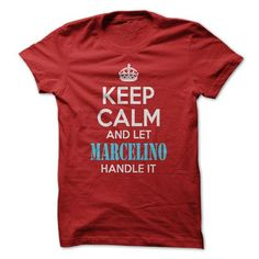 Keep calm and let MARCELINO handle it ! - #gift for men #fathers gift. HURRY => https://www.sunfrog.com/LifeStyle/Keep-calm-and-let-MARCELINO-handle-it-.html?68278