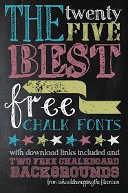 25 Awesome FREE Chalk Fonts and 2 Chalkboard Backgrounds. Includes download links and examples. Perfect with a white gel pen on black cardstock!