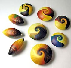 inspiration for painted #rocks #art #polymer #clay