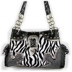 Zebra Print Satchel Handbag | ChickSaddlery.com