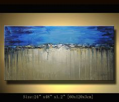 Original Abstract Painting, Modern Textured Painting,  Palette Knife, Home Decor,  by Chen 0233. $188.00, via Etsy.