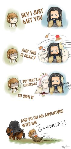 I love Bagginshield! And this is one page from my hobbit fan book. Wish you like it