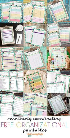 An Entire Month of Organizational Printables: June 2015 - Site Title To Do Planner, Planner Pages, Life Planner, Happy Planner, Printable Planner, Free Printables, Planner Ideas, College Planner, Printable Calendars