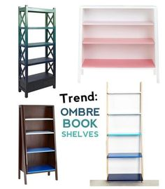 Trend Alert: Ombre Bookcases This is a lovely look, but I don't see myself spending that much money - I DO see my trying to DIY this :D