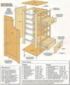 #431 Hardware Storage Cabinet Plans - Workshop Solutions