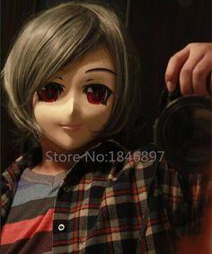 Silicone demi tête mâle plein visage cheveux courts rouge yeux kigurumi anime masque kigurumi cosplay rôle couleur des yeux peut être personnaliser dans Accessoires de costume pour hommes de Nouveauté Et Une Utilisation Particulière sur AliExpress.com   Alibaba Group