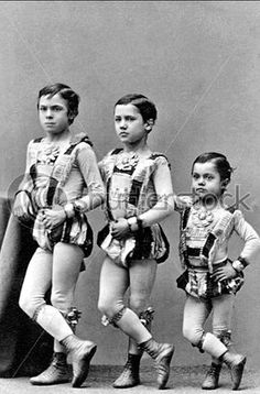 Young circus performers.