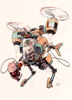 These Cartoon Animals Are The Most Adorable Mech Pilots In The Universe - Funny Troll & Memes 2019 Character Concept, Character Art, Arte Nerd, Arte Robot, Robot Concept Art, Character Design References, Creature Design, Character Design Inspiration, Anime