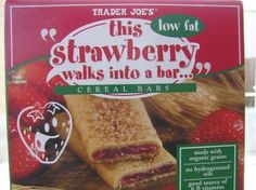 Trader Joes Strawberry Low Fat Cereal Bars 6 Count Box 13 ozbar Pack of 6 -- Read more reviews of the product by visiting the link on the image. Note: It's an affiliate link to Amazon.