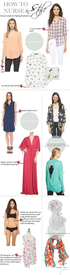 How to Nurse in Style | 11 Nursing Friendly Pieces You Need In Your Wardrobe | www.mommasociety.com | Community of Modern Moms