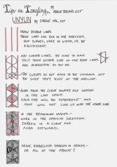 Unyun~Tips for Tangling~Zentangle
