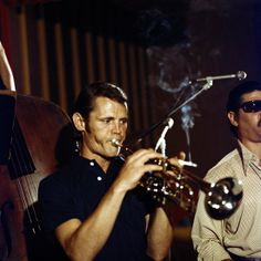 Chet Baker. (Blue Note Club, 1974. -- It takes a true professional to smoke and play trumpet simultaneously.)