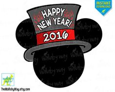 mickey new years eve 2016 printable iron on transfer or use as clip art diy