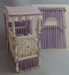 Lavender Custom Dressed Canopy Crib with Curtains. $59.95, via Etsy.