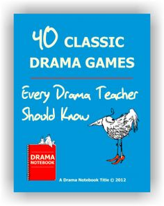 Here are 40 classic drama games every drama teacher should know…. Here are 40 classic drama games every drama teacher should know. Drama Notebook has the world's largest collection of drama games and activities. Theatre Games, Drama Theatre, Teaching Theatre, Teaching Music, Kids Theatre, Library Games, Musical Theatre, Teaching Resources, Drama Games For Kids