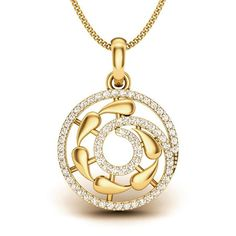 Yellow Gold Plated Swirl Pendant Chain Women Necklace 925 Sterling Silver Cz New Silver Pendant Necklace, Gold Pendant, Diamond Pendant, Silver Earrings, Earrings Uk, Pendant Design, Pendant Set, Silver Jewelry, Fine Jewelry