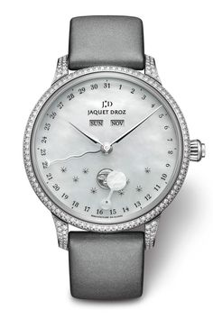 Jaquet Droz Small Complications Jaquet Droz the Eclipse Mother-of-Pearl (PR/Pics/Watch : http://watchmobile7.com/data/News/2013/07/130727-jaquet_droz-ECLIPSE_MOTHER_OF_PEARL.html) (3/3) #watches @Carla Jaquet Droz