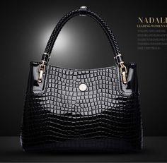 b93806b952a 2014 crocodile Hot selling genuine leather women's handbag Tassel Bag  Shoulder Bag Vintage Handbag 3 Colors. Cheap ...
