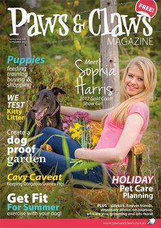 Well here it is!!!! My first Cover for Paws & Claws magazine.  It's free and will available for pick up at vet clinics, the Animal Welfare League of Qld and other retail outlets around the Gold Coast!  Can't wait to see what my next assignment will be, I'm told I'm going to love it!
