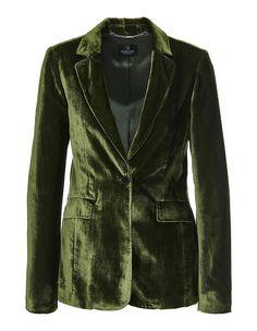 Samtblazer, avocado, grün | MADELEINE Mode Madeleine Fashion, Avocado, Elegant, Revers, Form, Women, Products, Slim, Female Fashion