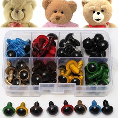 Amigurumi Safety eyes and nose 20 mm green stuffed animal toys crafts bears