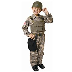 @Overstock - This boy's costume features a Navy SEAL Army Special Forces design and includes a shirt, vest, pants, helmet, belt and canteen holder. This costume also spotlights realistic looking camouflage cargo shirt and pants with lots of pockets.http://www.overstock.com/Clothing-Shoes/Dress-Up-America-Boys-Navy-SEAL-Army-Special-Forces-Costume/6358483/product.html?CID=214117 $38.49