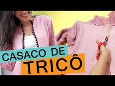 Como cortar blusa de tricô (lã) para transformar em casaquinho – Customizando – Blog de customização de roupas, moda, decoração e artesanato