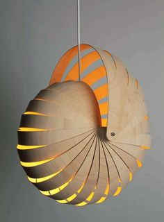 Rebecca Asquith : Nautilus Hanging Lamp Shade Natural