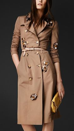 Scattered Gem Trench Coat   Burberry