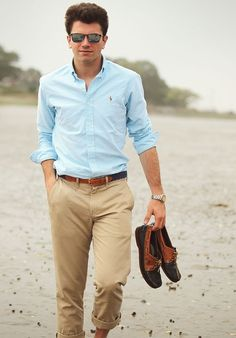 Oxford and chinos-simple and classy