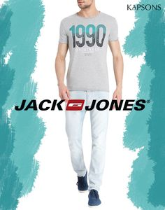 Wake up gang 90's!! Here's a special t-shirt for you by your favorite brand Jack & Jones. Grab this one & many more before they go off the racks from Kapsons stores 0r online at http://bit.ly/2c1RrPw #Kapsons #JackNJones