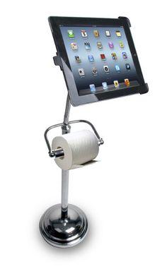 Multi Tasking ~ An iPad Toilet Paper Stand! Huh?!?! lol!