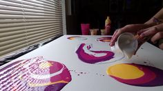 Acrylic Fluid Pouring,This Is My Largest Canvas To Date. Drip Painting, Fluid Acrylics, Large Canvas, Acrylic Pouring, Diy Wall Art, Resin Art, Art Tutorials, Modern Art, Videos