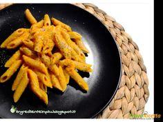 Penne integrali con crema di peperoni e carote alla senape  #ricette #food #recipes