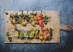 Grilled shisito peppers