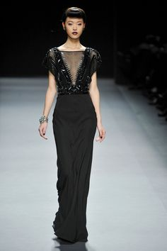 Jenny Packham's AW12 show was dark and mysterious