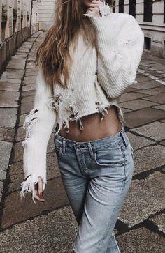 Cropped sweater --> Fashion Pinterest: @FlorrieMorrie00 Instagram: @flxxr_