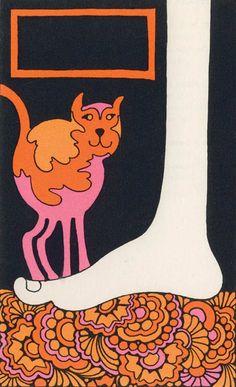 "John Alcorn illustration for ""Never Make Fun of a Turtle, My Son"" by Martin Gardner, 1969 Art And Illustration, Graphic Design Illustration, Modern Graphic Design, Graphic Art, Tableaux Vivants, Graffiti, 60s Art, Art Nouveau, Arte Pop"