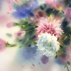 "Sergei Kurbatov (@sergei.kurbatov) в Instagram: «""Астры"" бумага-акварель ""Asters"" #watercolor #watercolour #aquarelle #waterblog #worldofartists #drawing #painting #art #artist #arts_help #art_gallery #art_we_inspire #topcreator #inspiring_watercolors #inspiration #flowers #botanical #botanicalart #illustration #акварель #вдохновение #иллюстрация"