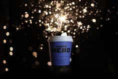 Caffe Nero blue cup on fireworks night