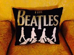 Beatles pillow by PerfectlyPlumpy on Etsy