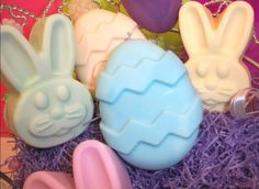 Easter Soaps  Bunnies and Eggs  3 oz each by especially4ubyEandT. , via Etsy.